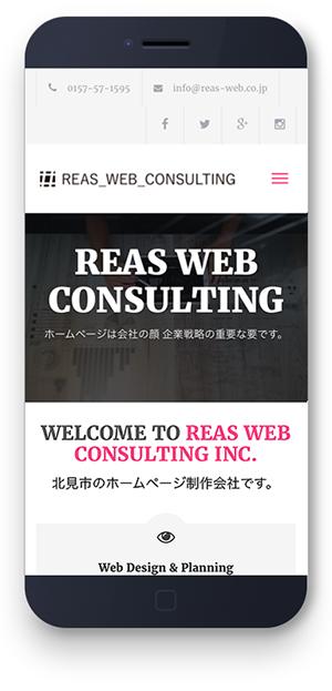 北見市 ホームページ制作 株式会社REAS WEB CONSULTING